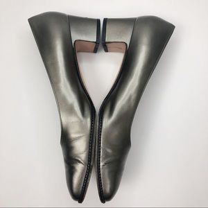 Salvatore Ferragamo Shoes - Salvatore Ferragamo Metallic Gray/Green Pump Heels